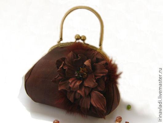 кожаная сумочка. сумка из кожи, женская сумочка. коричневая сумка их кожи, сумка шоколадного цвета, темно коричневый  сумочка женская, сумочка вечерняя
