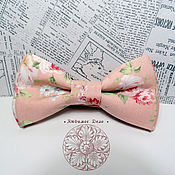 Аксессуары handmade. Livemaster - original item Classic pink Bow Tie/ rose flower/ Chebbi/ cotton classic in 2 two-ply. Handmade.