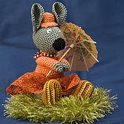 Куклы и игрушки handmade. Livemaster - original item Mouse in holiday knit. Handmade.