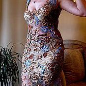 """Одежда ручной работы. Ярмарка Мастеров - ручная работа платье вязанное крючком  """" Очарование Азии """". Handmade."""