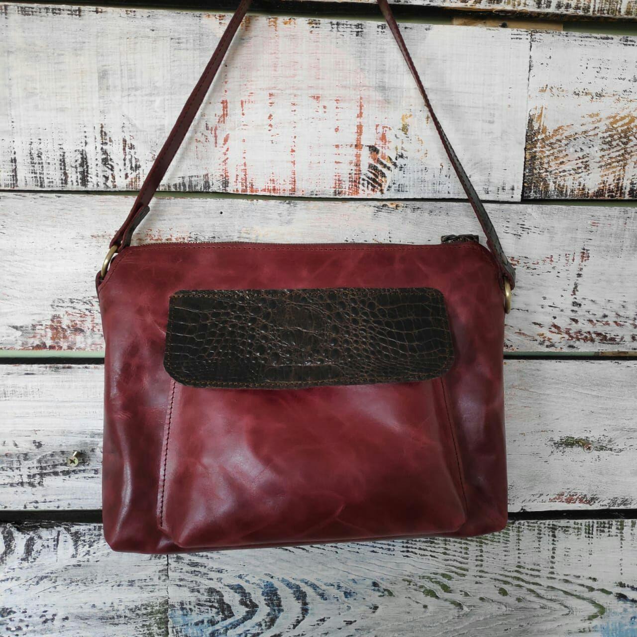 Handbags handmade. Livemaster - handmade. Buy Leather clutch bag leather Burgundy color.Bag, bright bag