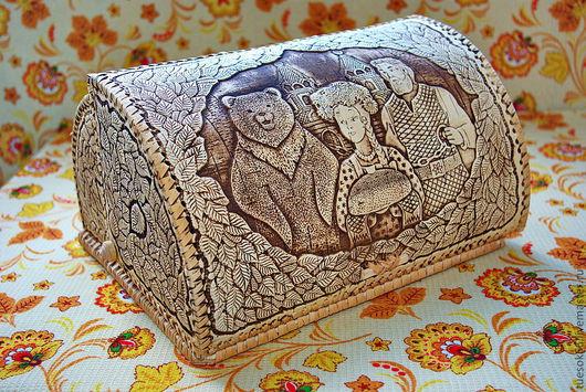 """Кухня ручной работы. Ярмарка Мастеров - ручная работа. Купить Хлебница из бересты """"Хлеб да соль"""". Handmade. Хлебница, кухня"""