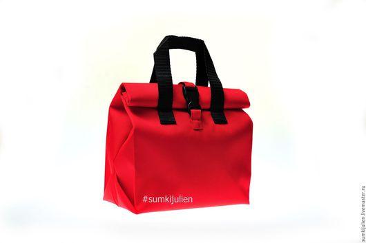 Женские сумки ручной работы. Ярмарка Мастеров - ручная работа. Купить Сумочка для обедов красная. Handmade. Ярко-красный