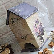 """Для дома и интерьера ручной работы. Ярмарка Мастеров - ручная работа Чайный домик """"Сиреневое утро"""". Handmade."""