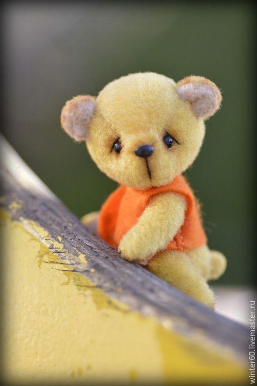 Мишки Тедди ручной работы. Ярмарка Мастеров - ручная работа. Купить Почти Винни. Handmade. Желтый, вручную, пластика