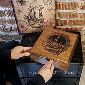 Шкатулки ручной работы. Ярмарка Мастеров - ручная работа Мужская шкатулка для часов Скорпион. Handmade.
