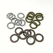 Материалы для творчества handmade. Livemaster - original item 10 PCs. Connectors twisted jump rings COPPER, BRONZE (art. 592). Handmade.