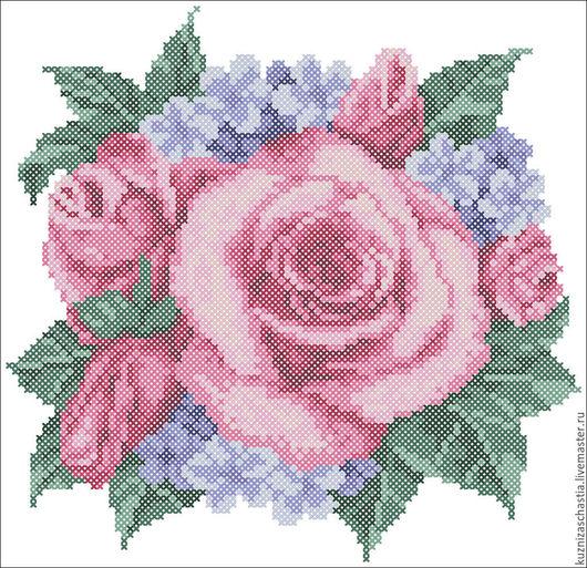 """Вышивка ручной работы. Ярмарка Мастеров - ручная работа. Купить Дизайн машинной вышивки """"Букет из роз"""", EXP, PES, PAT, VP3, ART. Handmade."""
