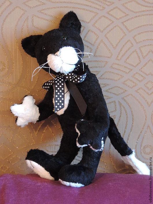 Мишки Тедди ручной работы. Ярмарка Мастеров - ручная работа. Купить Базиль. Handmade. Кот, чёрно-белый