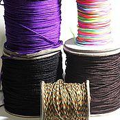 Материалы для творчества ручной работы. Ярмарка Мастеров - ручная работа Шнур для браслета шамбала с переходом цветный 1.5 мм. Handmade.