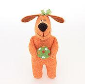 Мягкие игрушки ручной работы. Ярмарка Мастеров - ручная работа Игрушка собачка Рыжая Подружка, рыжий, оранжевый. Handmade.