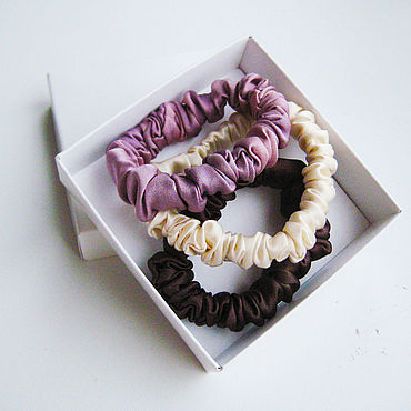 Decorations handmade. Livemaster - original item Set of 3 elastic bands made of 100% silk with manual dyeing. Handmade.