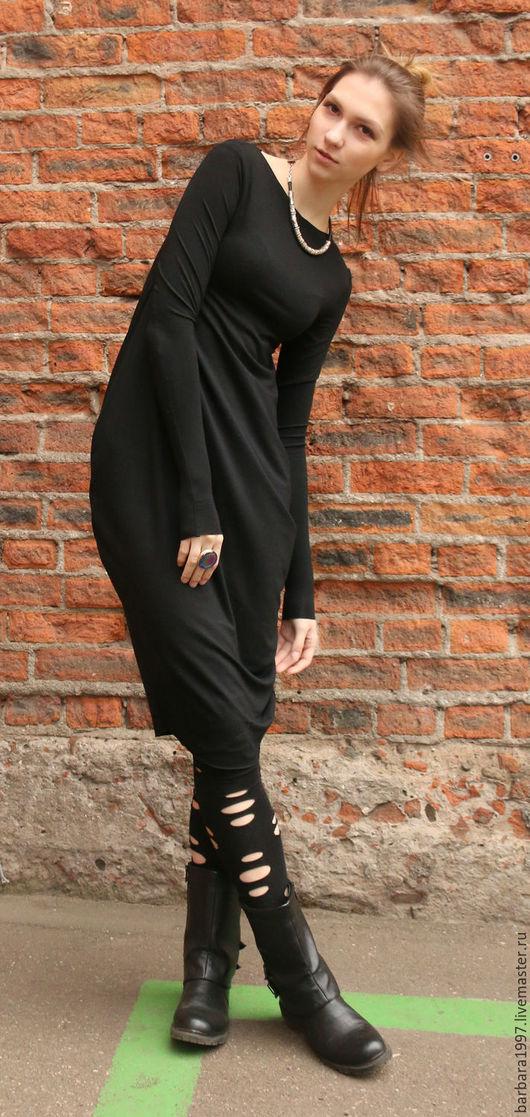 Платья ручной работы. Ярмарка Мастеров - ручная работа. Купить Платье Black Moon. Handmade. Платье, платье трикотажное