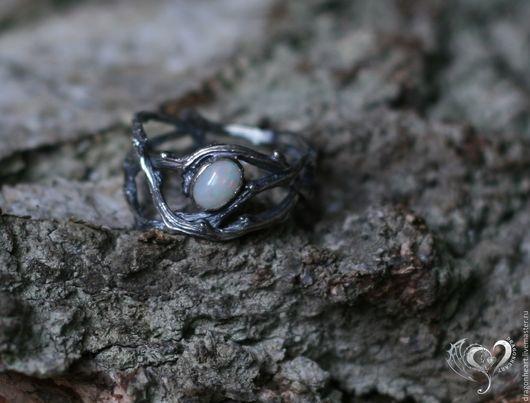 """Кольца ручной работы. Ярмарка Мастеров - ручная работа. Купить Кольцо """"Веточки"""". Handmade. Оникс, серебряный, серебро 925 пробы"""