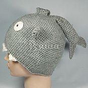 Работы для детей, ручной работы. Ярмарка Мастеров - ручная работа Шапка Акула вязаная для мальчиков, детская, осенняя, весенняя шапочка. Handmade.