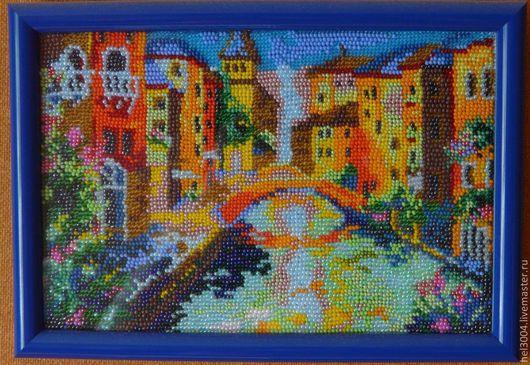 Город ручной работы. Ярмарка Мастеров - ручная работа. Купить Кратина из бисера Венеция. Handmade. Венеция, канал, подарок, дома