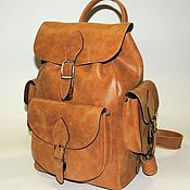 Сумки и аксессуары handmade. Livemaster - original item Beige leather backpack