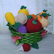 Кукольная еда ручной работы. Ярмарка Мастеров - ручная работа Вязаные овощи -Дары осени. Handmade.