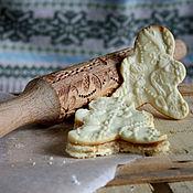 Для дома и интерьера ручной работы. Ярмарка Мастеров - ручная работа Новогодние украшения скалка для печенья в подарок на новый год. Handmade.