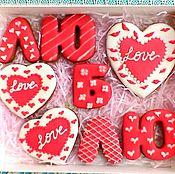 Сувениры и подарки handmade. Livemaster - original item Set cakes on Valentine`s Day. Cakes for Lovers.. Handmade.
