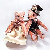 Куклы и игрушки ручной работы. Ярмарка Мастеров - ручная работа Влюбленная пара Эмма и Роберт в винтажном образе. Handmade.
