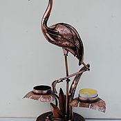"""Подсвечники ручной работы. Ярмарка Мастеров - ручная работа Подсвечник  из металла """" Фламинго"""". Handmade."""