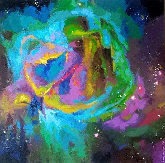 Абстракция ручной работы. Ярмарка Мастеров - ручная работа. Купить Nebula. Handmade. Комбинированный, живопись на холсте, космос, звезды, туманность