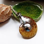 Украшения handmade. Livemaster - original item Pendant necklace Ammonite Ancient ocean. Handmade.