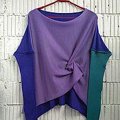 Одежда ручной работы. Ярмарка Мастеров - ручная работа КН_003_СИК Блузон 3-хцветный. Handmade.