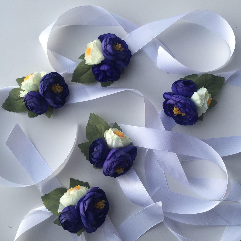 Браслеты подружки невесты фиолетовый