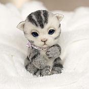 Куклы и игрушки handmade. Livemaster - original item Kitten Grey. Handmade.