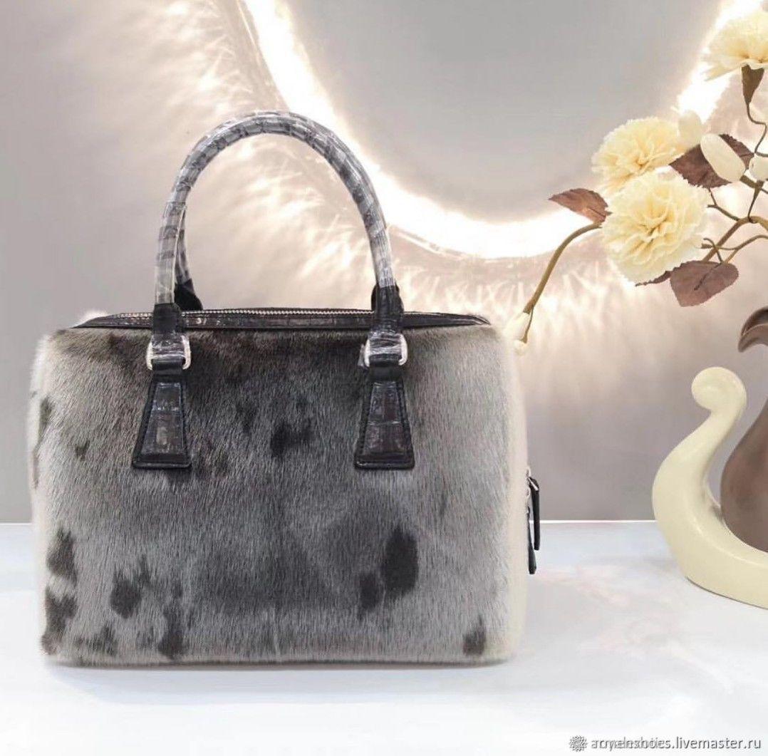 Женская сумочка из натурального меха морского льва, Классическая сумка, Тосно,  Фото №1