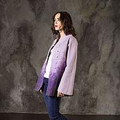"""Одежда ручной работы. Ярмарка Мастеров - ручная работа Валяный жакет """"Purple"""". Handmade."""