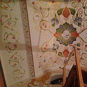 Картины и панно ручной работы. Ярмарка Мастеров - ручная работа Роспись потолка в русском стиле. Handmade.