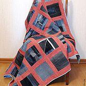 Для дома и интерьера ручной работы. Ярмарка Мастеров - ручная работа Джинсовый плед. Handmade.