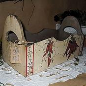 """Для дома и интерьера ручной работы. Ярмарка Мастеров - ручная работа Короб """"Перчики"""". Handmade."""