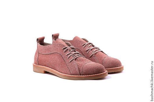 """Обувь ручной работы. Ярмарка Мастеров - ручная работа. Купить Башмачки женские """"lowshoes""""  #36. Handmade. Бежевый, обувь на заказ"""
