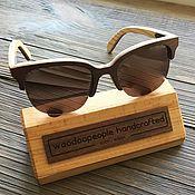 Аксессуары ручной работы. Ярмарка Мастеров - ручная работа Деревянные солнцезащитные очки модель New York. Handmade.