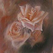 """Картины и панно ручной работы. Ярмарка Мастеров - ручная работа масло """" Розовый вечер"""". Handmade."""