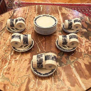 Посуда ручной работы. Ярмарка Мастеров - ручная работа Кофейный сервиз Гдр. Handmade.