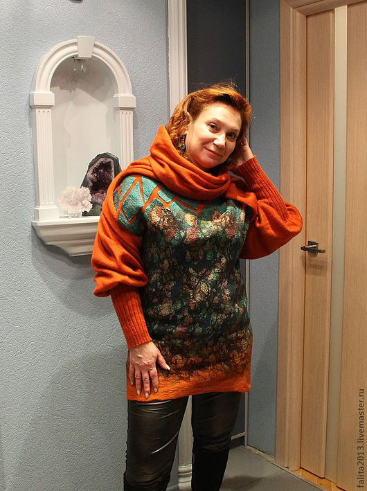 Кофты и свитера ручной работы. Ярмарка Мастеров - ручная работа. Купить Хозяйка медной горы. Handmade. Абстрактный, шёлк натуральный