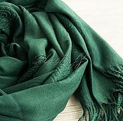 Аксессуары handmade. Livemaster - original item Cashmere dark green stole fabric ETRO