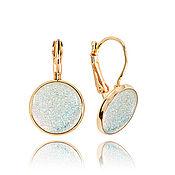 Украшения handmade. Livemaster - original item White jewelry round earrings