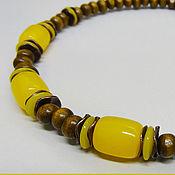 Украшения handmade. Livemaster - original item Necklace Lime honey. Handmade.