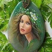 """Украшения handmade. Livemaster - original item Hand painted pendant """"Wind"""". Handmade."""