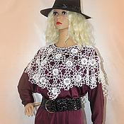 Одежда handmade. Livemaster - original item Poncho crochet Roses in frost.. Handmade.
