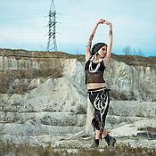 "Одежда handmade. Livemaster - original item Asymmetric Beige Linen Skirt ""Atom"". Handmade."
