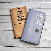 Блокноты ручной работы. Ярмарка Мастеров - ручная работа Блокнот ручной работы Сохраняй спокойствие и читай Гарри Поттера. Handmade.