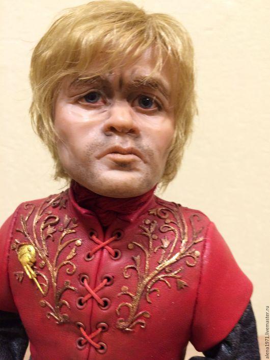Коллекционные куклы ручной работы. Ярмарка Мастеров - ручная работа. Купить Тирион Ланнестер - портретная кукла. Handmade. Ярко-красный