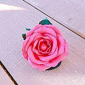 """Украшения ручной работы. Ярмарка Мастеров - ручная работа Роза из фоамирана """"Алый закат""""( на резинкe). Handmade."""